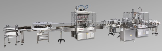 Bosch FLK filling and capping line